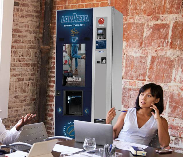 Lavazza coffee vending machine
